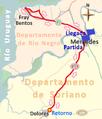 Recorrido de la tercera etapa de la Vuelta Ciclista Chaná 2015.png