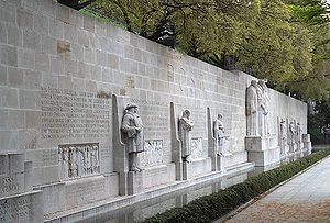 Reformation Wall - The Reformation Wall stretches for 100 m, depicting numerous Protestant figures from across Europe.