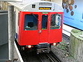 Refurbished London Underground D78 Stock train at Hammersmith - front.jpg