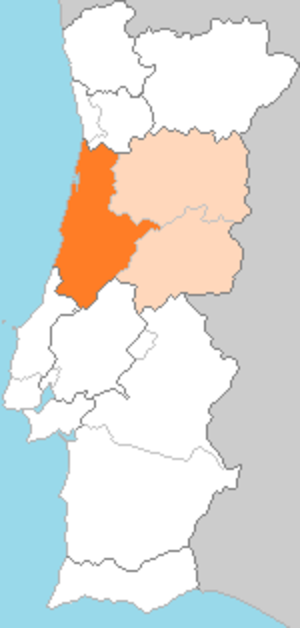 Beira Litoral Province - Beira Litoral (Dark Orange) in the region of Beira (Light Orange).