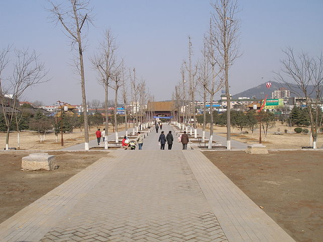 site of the former Ming dynasty palace in Nanjing