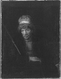 Rembrandt (Harmensz. van Rijn) (Werkstatt) - Bildnisstudie eines Mannes - 1964 - Bavarian State Painting Collections.jpg