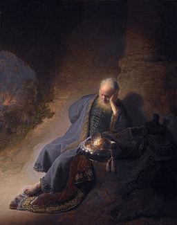Rembrandt - Jeremiah lamenting