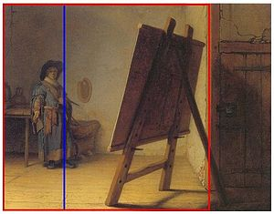 Rembrandt The Artist in his studio rabatment study.jpg