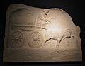 Representació d'un carro, segle III dC, Museu Romà d'Augsburg.JPG
