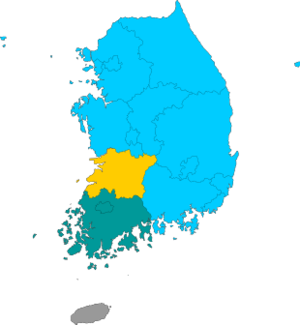 Republic of Korea local election 2006 result (Metropolitan city or Province).png