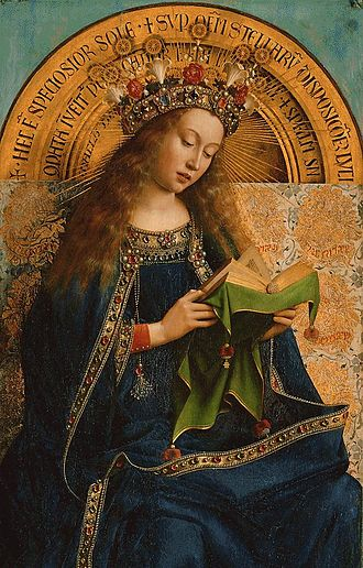 The Fountain of Life (painting) - Ghent Altarpiece: The Virgin Mary