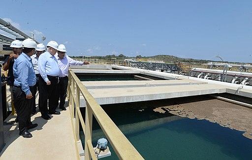 Reuven Rivlin in a visit at IDE - Sorek Desalination Plant (0097)