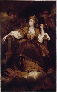 <i>Sarah Siddons as the Tragic Muse</i> painting by Joshua Reynolds