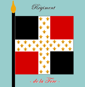 1st Artillery Regiment (France) - Colours of the Régiment de La Fère