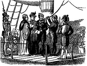 Richard Parker (sailor) - Richard Parker about to be hanged for mutiny