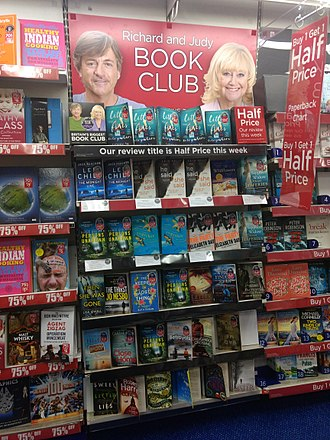 Richard & Judy - Richard and Judy Book Club display at W.H. Smith, Enfield.