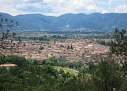 Panorama del centro storico di Rieti visto da Colle San Mauro (a Est della città)