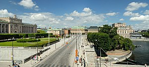 Arvfurstens palats - The surroundings of Arvfurstens palats as seen from Stockholm Palace (2011)