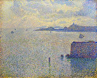 <i>Sailboats and Estuary</i> The van Rysselberghe