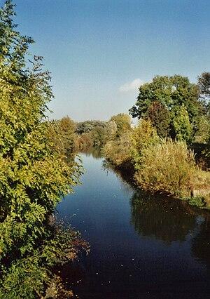 Innerste - River Innerste near Steuerwald Castle.