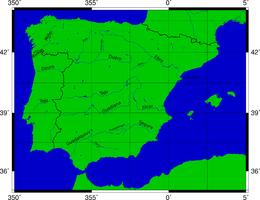 Cartina Fisica Spagna Con Fiumi.Penisola Iberica Wikipedia