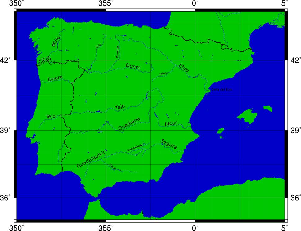 Rios peninsula Iberica-es