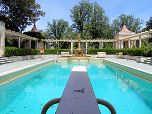 View from the diving board at Rippon Lea in Vi...