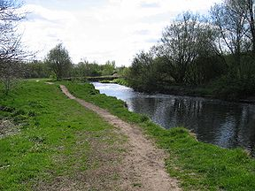 River Tame, seen here near Reddish Vale.