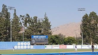 Riverside Sports Complex - Image: Riverside Sports Complex (UC Riverside) scoreboard