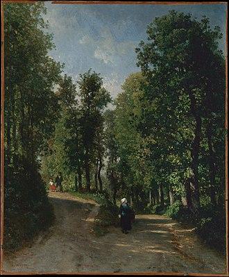 Constant Troyon - Road in the Woods, circa 1840s, Metropolitan Museum of Art