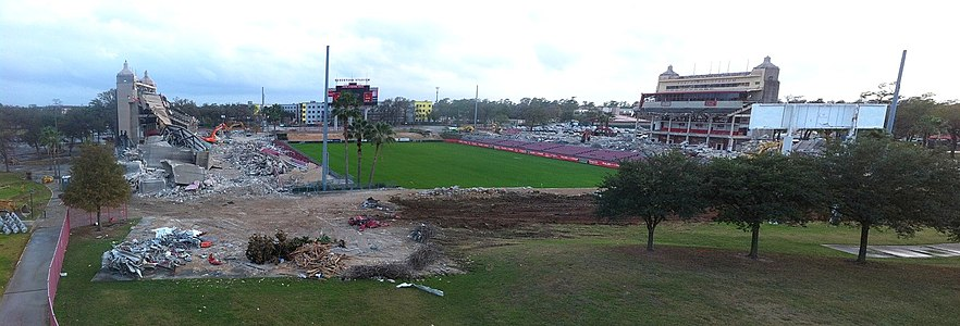 Robertson Stadium under demolition on December 19, 2012
