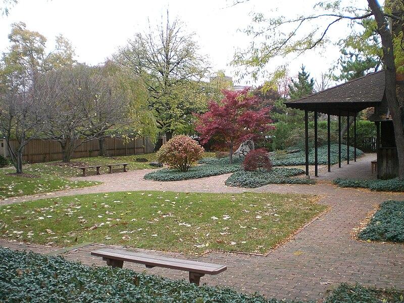 File:Rochester Zen Center garden facing universal buddha.JPG