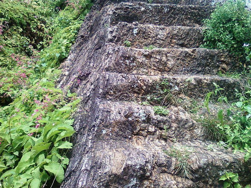 File:Rockcut steps Pavurallakonda Buddhist ruins Bheemunipatnam.jpg
