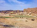 Rocky landscape near Petra, Jordan, wider view.jpg