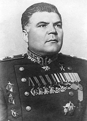 Nikopol–Krivoi Rog Offensive - 3rd Ukrainian Front commander Army General Rodion Malinovsky in the late 1940s