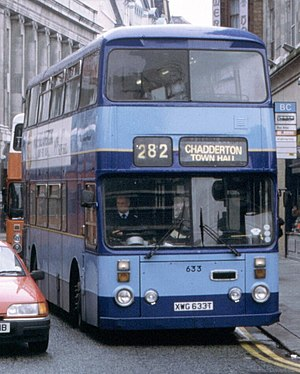 London Country North East - Citibus Tours Leyland Atlantean in Manchester in the 1990s