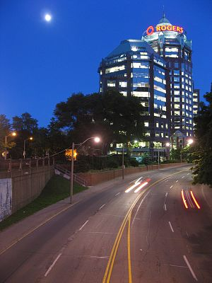 Rogers Communications - The Rogers Building, OMP at night