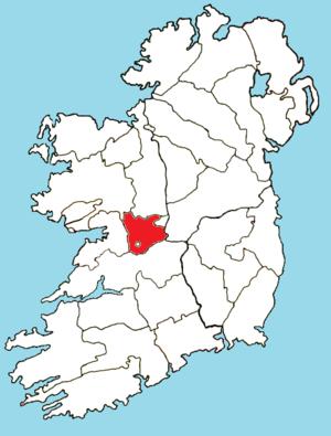 Roman Catholic Diocese of Clonfert - Image: Roman Catholic Diocese of Clonfert map