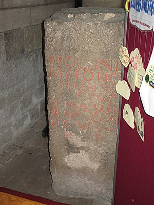 Maponos - Image: Roman altar, North Nave Aisle, Hexham Abbey geograph.org.uk 749305