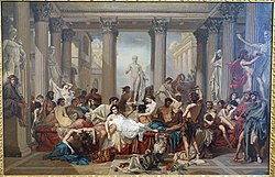 Romans of the Decadence, by Thomas Couture, 1847, oil on canvas - Fogg Art Museum, Harvard University - DSC01485.jpg