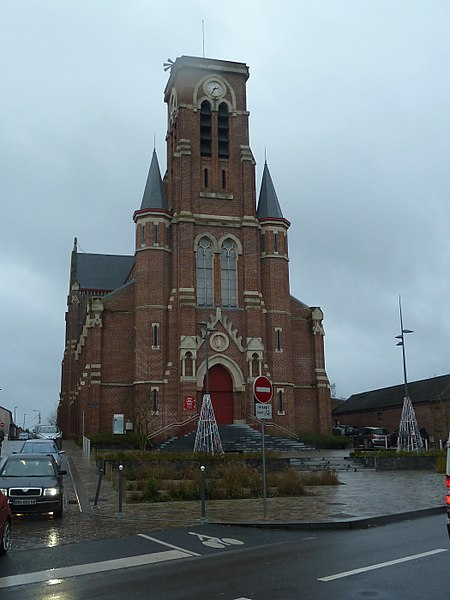 L' église Saint Roch  Roncq commune du  Nord (département_français), région Nord-Pas-de-Calais
