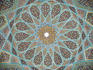 Roof of the tomb of Persian poet Hafez at Shir...