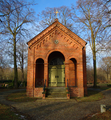 Rosenthal protestant church cemetery berlin, east elevation of chapel.png