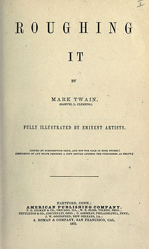 Roughing It - Title page from first edition