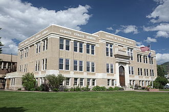Steamboat Springs, Colorado - The Routt County Courthouse in Steamboat Springs, Colorado.
