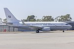 Royal Australian Air Force (A36-001) Boeing 737-7DT (BBJ) taxiing at Wagga Wagga Airport.jpg