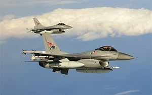 Royal Norwegian air force F-16s, Northern Viking 2011.jpg