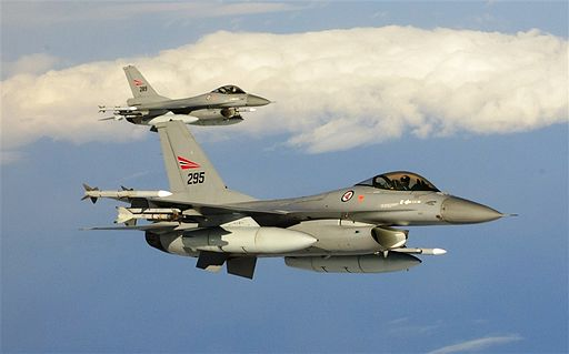 Royal Norwegian air force F-16s, Northern Viking 2011