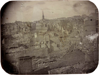 St. Louis Fire (1849) - Ruins of the St. Louis Fire of 1849. Daguerreotype by Thomas Martin Easterly.