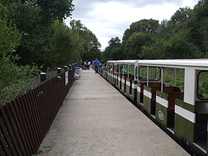 Ruislip Lido - The miniature railway, photographed in 2009.