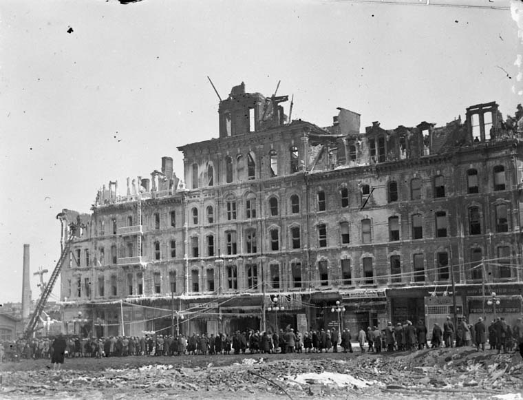 Russell Hotel Fire 1927 Ottawa