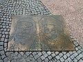 Sázava (BN), pamětní deska na náměstí V+W 01.jpg