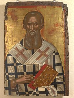 S.Athanasius by M.Damaskenos (late 16th c.)