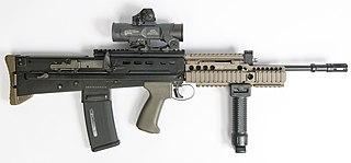 SA80 Current British assault rifle, bullpup